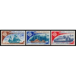 TAAF Poste Aérienne n°44 à 46