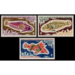 Timbres TAAF n°43,44,45