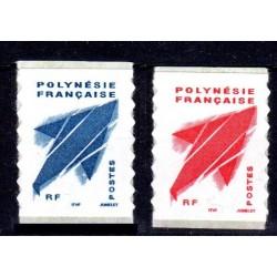 Timbre Polynésie n°736A et 737