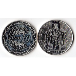10 Euros Argent Hercule...