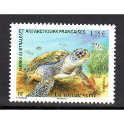 Timbre TAAF n°717 Tortue verte