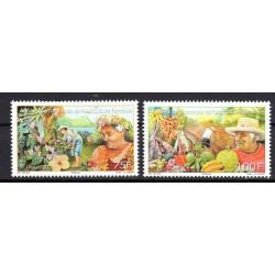 Timbre Polynésie n°1054 et...