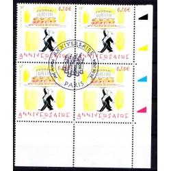 Bloc de 4 timbres...