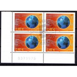 Bloc de 4 timbres Le Monde...
