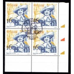 Bloc de 4 timbres Pierre...