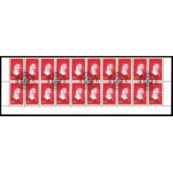 5 Blocs de 4 timbres René...