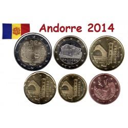 Série 6 pièces Andorre 2014