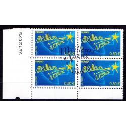 Bloc de 4 timbres Meilleurs...