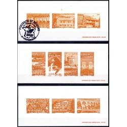Gravures des 10 timbres...