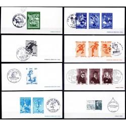 Gravures de 15 timbres...