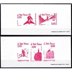 Gravures des 5 timbres...