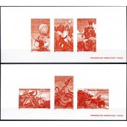 Gravures des 6 timbres...