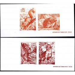 Gravures des 4 timbres...