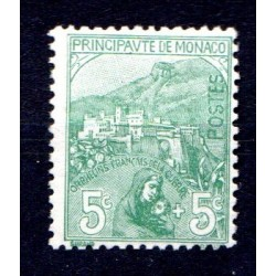 Timbre Monaco n°28 Au...