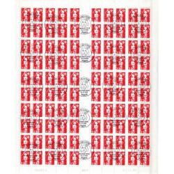 Feuille entière 100 timbres...