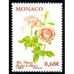 Timbre Monaco n°3007 Rose...