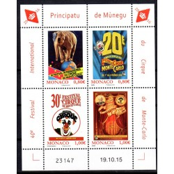 Timbre Monaco n°3011 à 3014...