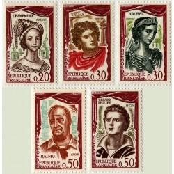 Timbre France N°1301 à 1305...