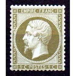 Timbre France Napoléon N°19 * Neuf gomme d'origine