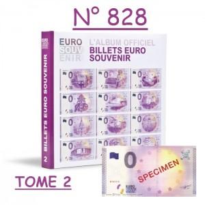 """Billet spécimen n°828 avec classeur billets touristiques """"Euro Souvenir"""" Tome 2"""