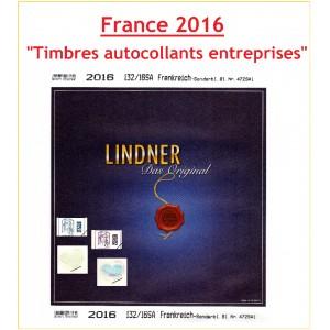 Jeu France Lindner Timbre entreprises autoadhésifs 2016
