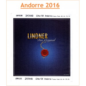 Jeu Andorre Poste Française Lindner 2016